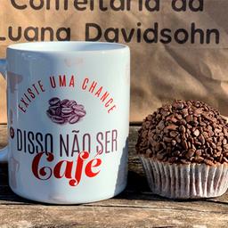 Caneca Café e Cupcake Brigadeiro