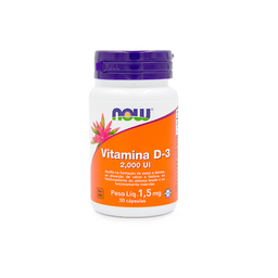 Vitamina D3 2000 Iu 30 Cápsulas Now Foods