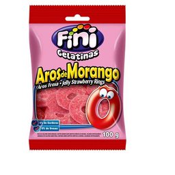 Bala Fini Aros de Morango