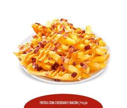 Batata Frita com Cheddar e Bacon - 300g