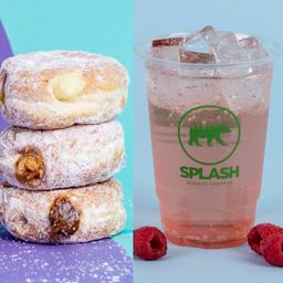 3 Donuts + Soda Splash G