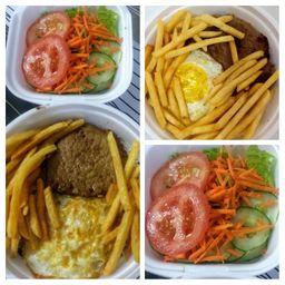 Marmitex com Bife e Batata Frita - 500g