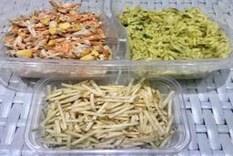 Salpicão de Frango + Risoni ao Pesto