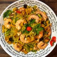 Arroz de Camarões ao Curry