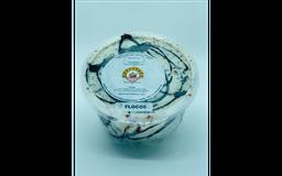 Pote de sorvete sabor flocos de 1 litro