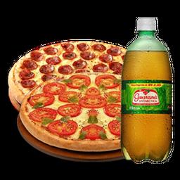Combo de 2 Pizzas Grandes + Refri de 2L
