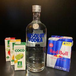 Combo de Absolut Vodka 1l