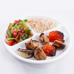 Michui de Frango, Arroz Aletria e Salada Fatuch