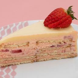 Alemã de morango - fatia | torta dalena