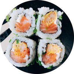 Sushi Uramaki Salmão e Camarão