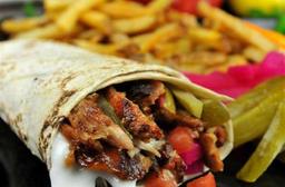Sanduíche de Shawarma de Frango - Kebab
