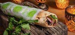 Kebab de Falafel no Pão Árabe (Vegano)