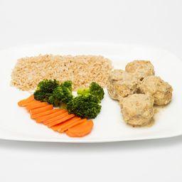 Almôndegas de Frango ao Molho Gorgonzola