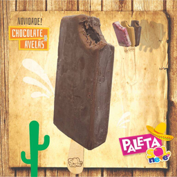 Paleta de Chocolate e Avelã