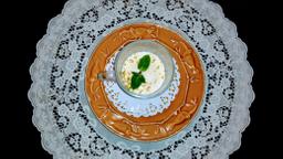 Manjar de Coco com Calda de Ameixa