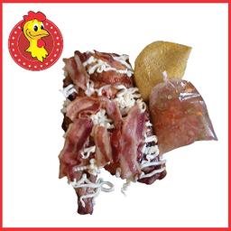 1/2 - Frango na brasa com catupiry e bacon
