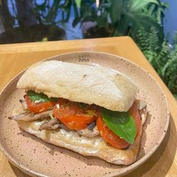 Sanduíche Chevre com Cogumelos