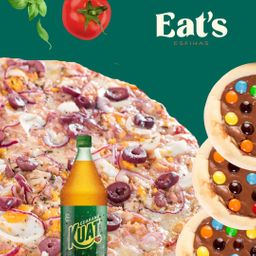 Combo Pizza Portuguesa e 6 Esfihas Doces