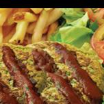 Hambúrguer Vegetariano com BBQ
