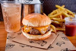 Combo Smash: Burger + Batata Frita + Refrigerante