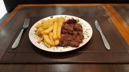 Bife de ancho com batata frita - 550g