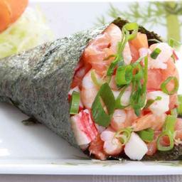 Temaki salmão com kani