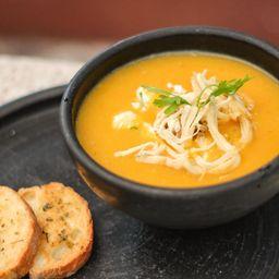 Caldo de Frango e Curry
