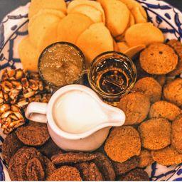Biscoitos do café completo