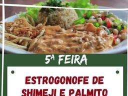 Estrogonofe de Shimeji e Palmito