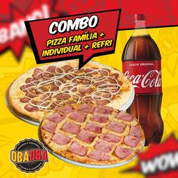 Pizza Família 35Cm e Individual 25Cm + Refrigerante 2L