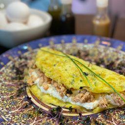Omelete de Salmão com Cream Cheese