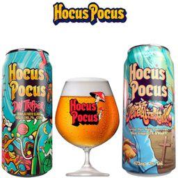 Kit Degustação Hocus Pocus com 2 Latas e 1 Taça