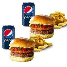 """Combo Marinara Crispy Cheese Burger """"Leva 2 Paga 1"""""""
