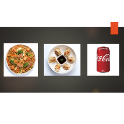 Combo - yakisoba tradicional + 3 guiozas + 1 coca cola 350ml