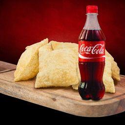 Combo 6 Pastéis Coca-cola 600 ml