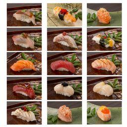 Duplas de sushi - especial do chef