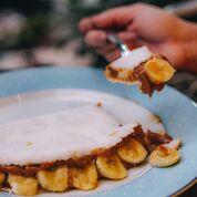 Tapioca De Doce De Leite Com Banana