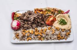 Prato de shawarma