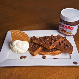 Waffle com Nutela