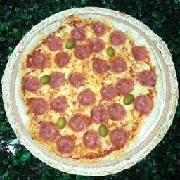 Pizza de calabresa grande 35%+refri 1l