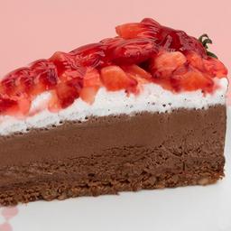 Brownie de Morango -fatia | Torta Dalena