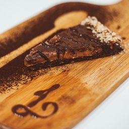 Torta iii Camadas de Chocolate 70% - Fatia