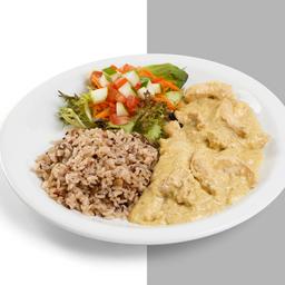 Iscas de Frango ao Curry