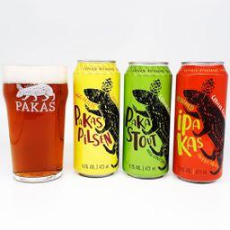 Kit Pakas com 3 Cervejas e 1 Copo