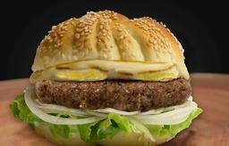 Emmental Thickburger C/ Fritas  (170 G. de Carne)