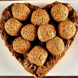 Coração de Chocolate Gourmet Recheado - Brigadeiro Belga 600g