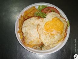 Quentinha de Ovos Fritos