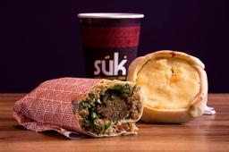 Combo 2 - 1 Salgado, 1 Kebab e 1 Mate 300ml
