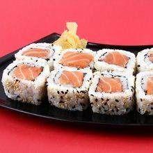 Uramaki de salmão - 6 unidades em dobro