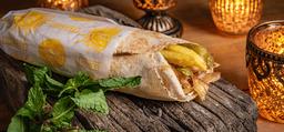 Kebab Frango Tavuk No Pão Árabe
